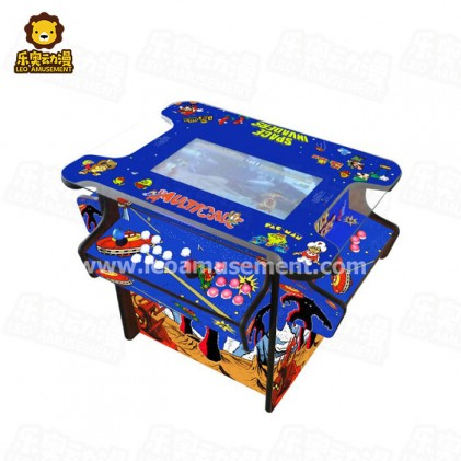3 sides Cocktail table arcade game machine